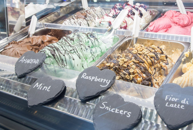 City centre retail unit let to gelato restaurant